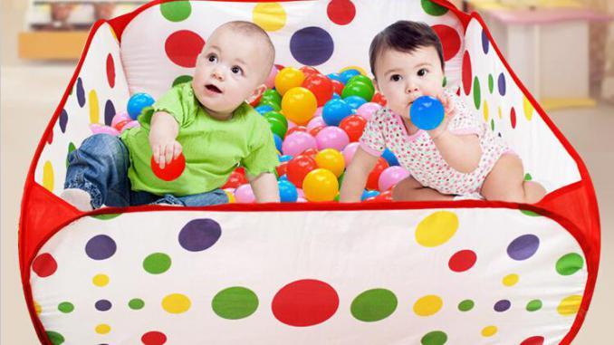 Бассейн с шариками годовалому ребенку на новый год