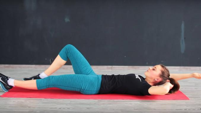 Упражнение на косые мышцы живота