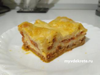 Рецепт лазаньи. Вкусно и сытно